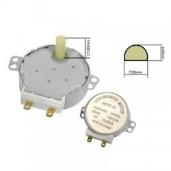 Motore per piatto microonde alberino 17mm 220V-4W-50/60Hz 5 giri minuto
