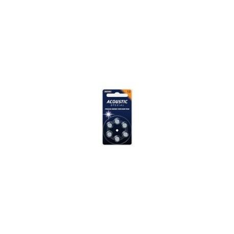 Batterie 13 zinco/aria mercury free