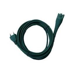 Cavo alimentazione di colore verde 7mt 2x0,75mm spina Italia adattabile modelli VK130/131